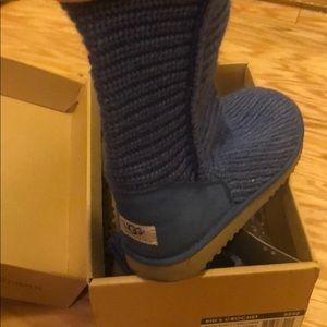 Ugg Boots Kid's Crochet Bijou Blue/Cornflower
